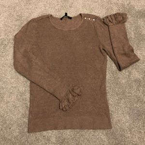 White House black market taupe sweater